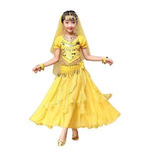 JAYCOSIN New Arrivals Dança Oriental Crianças Vestidos Crianças Trajes de Dança Do Ventre India Barriga Roupas seis cores 40 #