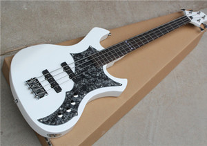 White 4 bass electric guitar strings, 2 pickups, grey pearl pickups, rosewood series, customized service