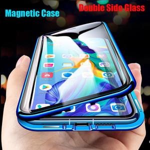 Magnetische Metall Double Side Glas Telefon-Kasten für Huawei Honor Mate-30 20 10 Lite P30 P20 Pro 8X 9X Y9 Prime P Smart Z 2019 Abdeckung