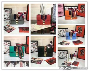 Sylvie mini chain bag Ribbon Leather White 431666 Chain Shoulder Hand Bag Blue Navy Bkack Used size:19 x 14x 7cm