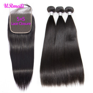 5x5 Brazilian Straight Virgin Hair Bundles With Closure Human Hair Weave 3 4 Bundles With Lace Closure Dhgate Brazillian Remy Hair Extension