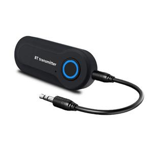 Bluetooth Audio Transmitter GT09S musique Jack A2DP TV Adaptateur sans fil portable mp3 PSPGen noir stéréo