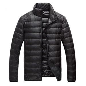 Mens Nuevo Invierno Parkas Moda Ultraligero pato chaquetas Streetwear pluma Escudo caliente impermeable gruesa ropa masculina