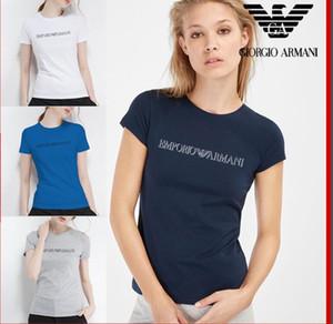 neue Designer Sommer kurzärmelige klassische Frauen tragen Marke I Urlaub casual paar Frauen tragen Mode T-Shirt niedrigen Preis Förderung
