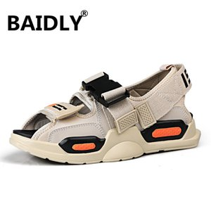 Summer Men Sandals Breathable Mesh Male Sandal Summer Beach Men Shoes Water Male Slippers Fashion Slides Casual Shoes Y200702