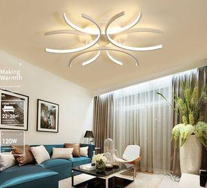 Luster monté surface en aluminium blanc vague Avize éclairage 110V 220 V moderne Lumières LED plafond pour Chambre Salon MYY