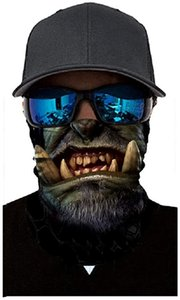 Saindermira Unisex 3d Clown Printed Balaclava Headwear Multi Functional 50+ Uv Face Mask
