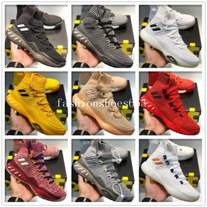 Nouvelle arrivée 2019 Crazy Explosive Trainer High Hommes Chaussures de Basketball Rouge Blanc Noir Andrew Wiggins Crazy Explosive Youth Wall 3 chaussettes chaussures