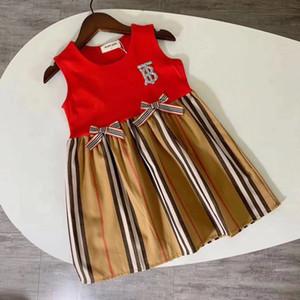 2020 달콤하고 신선한 어린이 의류 타이드 버전 레이스 드레스 패션 클래식 걸스 라운드 넥 풀오버 공주 케이크 스커트 1216 드레스