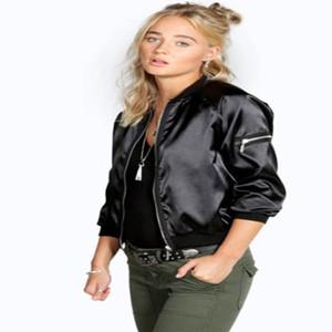 2018 Недавно женская мода повседневная весна осень куртка 2 стиль с длинным рукавом O-образным вырезом молния тонкий пальто размер S/M/L / XL