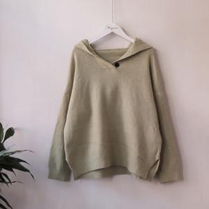 Werynica Nuevo 2019 Otoño Invierno MANERA calienta con capucha suéteres de las mujeres de manga larga con capucha de Corea sólido Harajuku Top Mujer del suéter