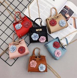 Wild children's Messenger bag fashion little girl flower shoulder bag Korean version of the cute baby mini bag tide