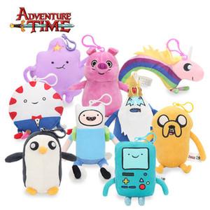 13-21cm Adventure Time peluche porte-clés Jouets Finn Jake Penguin Gunter Beemo Bmo Pendentif Poupées animaux en peluche douce Party Supplies