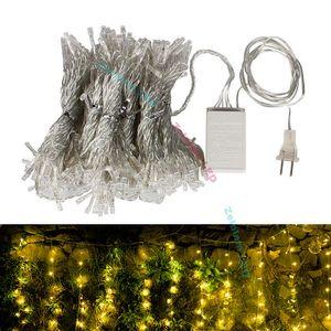 3 * 3m LED Window Curtain String Light rete luci Ghiacciolo String Light 8 modalità Fairy Lights home party Matrimonio Natale