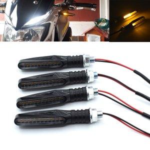 ل 2 قطع العالمي led للدراجات النارية بدوره اشارات 12 فولت عالية السطوع تتدفق المياه الوامض الذيل ضوء دراجة بدوره إشارة ضوء مصباح