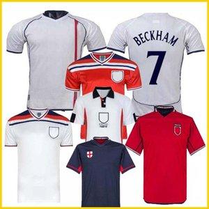 Retro Coupe du monde 1982 2002 ANGLETERRE BECKHAM FOOTBALL maison loin Maillot de foot Gerrard Lampard Scholes Owen RED