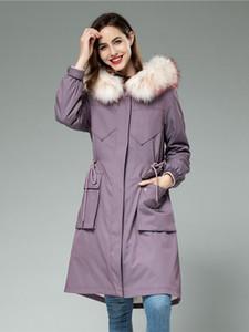 Женская траншея пальто Winfreaker Mur Part Women Wakcoon воротник моды длинные девушки подкладка модель 2021