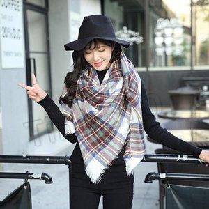 14 stil kış yeni kadın ekose atkılar Kare eşarp Üçgen onay şal kalınlaşmış Süper büyük Atkısı Parti FavorT2C5162