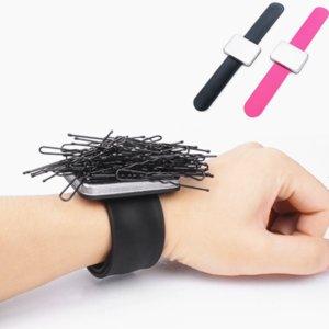 Salone professionale Accessori per capelli magnetico del polso del braccialetto della cinghia della fascia dei capelli della cinghia del supporto della clip barbiere parrucchiere Styling Tools