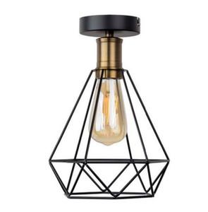 Урожай Железный каркас Потолочный светильник LED Shade Промышленные Современные Потолочные светильники Nordic Освещение Клетка Крепеж Главная Гостиная Декор MYY