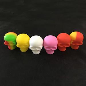 Conteneur Stash silicone promotionnel crâne Forme vis supérieure Dab huile cire pot bain résistant à la chaleur 5 Pièces Container