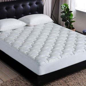 Cubierta del cojín de colchón de enfriamiento Colchones y acolchado colchón Topper 300TC 100% Algodón con plumón de llenado 8-21 pulgadas de profundidad de bolsillo