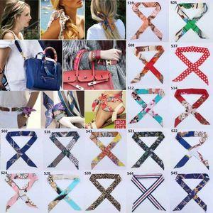 Mode Dame-Frauen-Dame Twilly Silk Band Schnalle Schal Leopard Striped Dekoration für Handtaschen-Handgriff