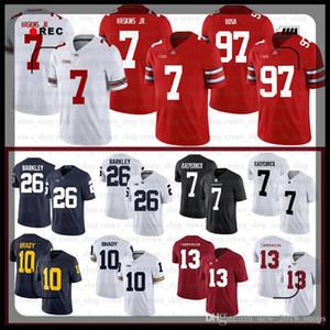 13 توا Tagovailoa NCAA 7 دواين هاسكينز الابن ألاباما قرمزي المد جيرسي نيك بوسا ميشيغان توم برادي ولاية أوهايو بوكس كرة القدم Jerseys50