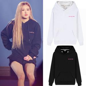 2019 Fashion Kpop BlackPink ROSE Hoodie Concert Hip Hop style décontracté en vrac Taille Plus Vêtements pull avec capuche Imprimé
