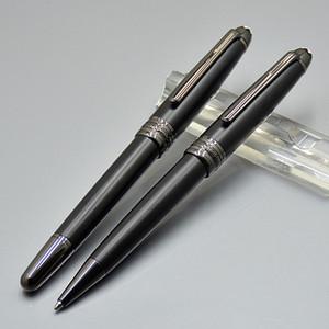 뜨거운 판매 - 새로운 호화로운 Meisterstcek 163 매트 블랙 롤러 볼 펜 볼펜 펜 학교 용품 용품 몬테 브랜드 쓰기 선물 펜