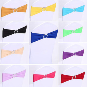 Colorful Sashes Bow Chair Sashes Satin Wedding Chair Sashes Bow Tied for Decoration With Buckle for Weddings Event Party Accessories