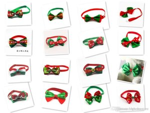 100pc lot Christmas Holiday Dog Bow Ties Cute Neckties Collar Pet Puppy Dog Cat Ties Accessories Grooming Supplies