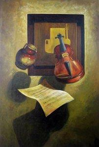 Скрипка Home Decor расписанную HD печати Картина маслом на холсте стены искусства Холст Большие картинки 191125