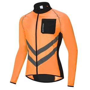 BL218-O Cycling Running Ultra Light Reflective Waterproof Jacket Windbreaker Mountain Bike Reflective Windbreaker