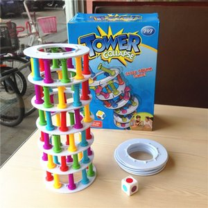 1 Set Tower Collapse Board Games For Kids Crazy Column Boom Boom Family Game Children Birthday Party Supplies Kid Toys Best Gift