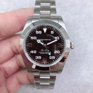 U1 Fábrica de luxo Hot Selling Air King 116900 Aço Inoxidável Sapphire espelho Automático Mecânica Mens Watch Relógios de pulso