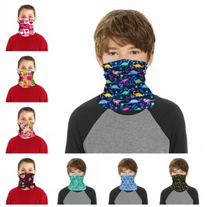 Windproof Masks Kids Cartoon Magic Scarf Cycling Face Masks Running Neck Gaiter Cover Protective Gear Can Put Filter CCA12168 50pcs