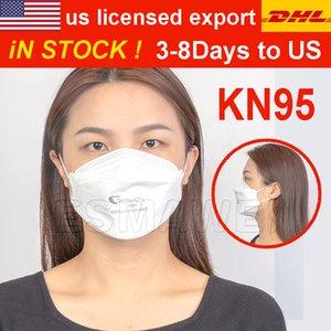Super Qualität US Licensed Export Fabrik Fisch-Mund-Shaped KN95 Gesichtsmaske 4-Schicht-Non-Woven-Anti-Fog Staubdichtes Außen Masken