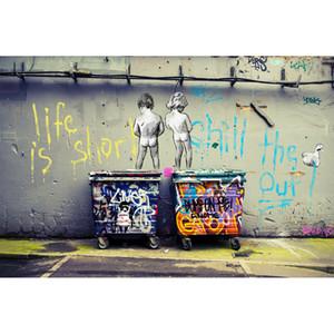 NEW Street Art Качество граффити Бэнкси Большой Энди Бэйкер Wall Art Decor расписанную HD картин Печать холст, масло для гостиной 190916