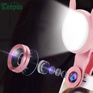 ماكرو ملء ضوء LED العالمي للهاتف المحمول ملء ضوء عدسة واسعة الزاوية تعديل أضواء صورة شخصية الجمال مع عدسة الكاميرا على كليب