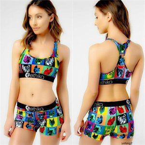 Ethika Women Summer Suits Luxury Sports Tops Shorts 2pcs Designer Outfits ETWS4 Yoga Designer Suits Swimwear Bikini best