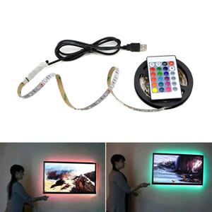 USB светодиодная лента Лампа 2835SMD DC5V Гибкая светодиодная лента Лента Лента 1M 2M 3M 4M 5M HDTV ТВ Экран рабочего стола Фон Смещение освещения