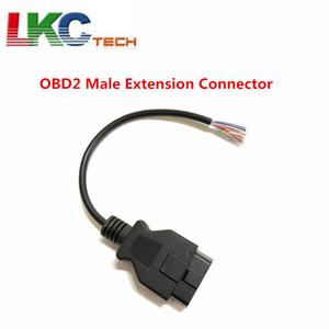 En Yeni Araba Teşhis OBD 2 16 Pin Erkek Uzatma Bağlayıcı Rapor Kablo Açılış Kablo Uzatma OBD 2 Açılış Sonu