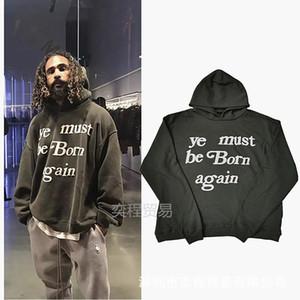 Mens Hoodies CPFM Ye Must Be Moda Born Again pulôver Camisola encapuçado High Street solto camisola