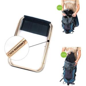 Outdoor Angeln Stuhl beweglicher faltender Rucksack Camping Aluminiumlegierung-faltbares Picknick Angeln Stuhl mit Tasche Angelzubehör OOA5043
