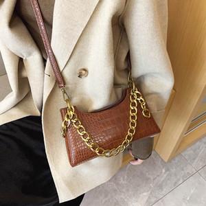 Catene d'oro signore Messenger Borse di Totes Madre della borsa della borsa della spalla di modo Borsa per stile semplice di coccodrillo delle donne Crossbody Borse