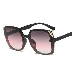 Higodoy plastique femmes lunettes de soleil surdimensionnées Vintage Place Marque Designer Femme Lunettes de soleil UV400