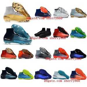 mens soccer cleats Mercurial Superfly V Ronalro FG indoor soccer shoes kids football boots cr7 boys neymar boots Rising Fast Pack cheap