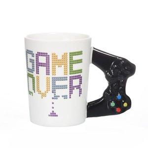 Oyun Bitti Kahve Mug 3D Oyun Denetleyici Sap Mug Seramik Kupa Süt Çay Kupalar Gameboy Doğum Hediye