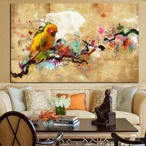 الببغاء الطيور هاندبينتيد hd الطباعة الحديثة مجردة الحيوان الفن النفط اللوحة جدار الفن ديكور المنزل على جودة عالية قماش. متعدد الأحجام a78